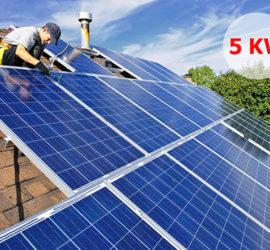 Hệ thống điện năng lượng mặt trời hòa lưới 5Kw