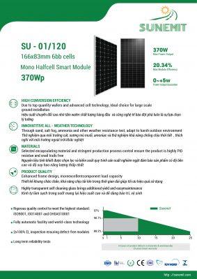 Tấm pin mặt trời SU-01 hiệu suất cao