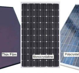 Các loại pin năng lượng mặt trời phổ biến nhất hiện nay