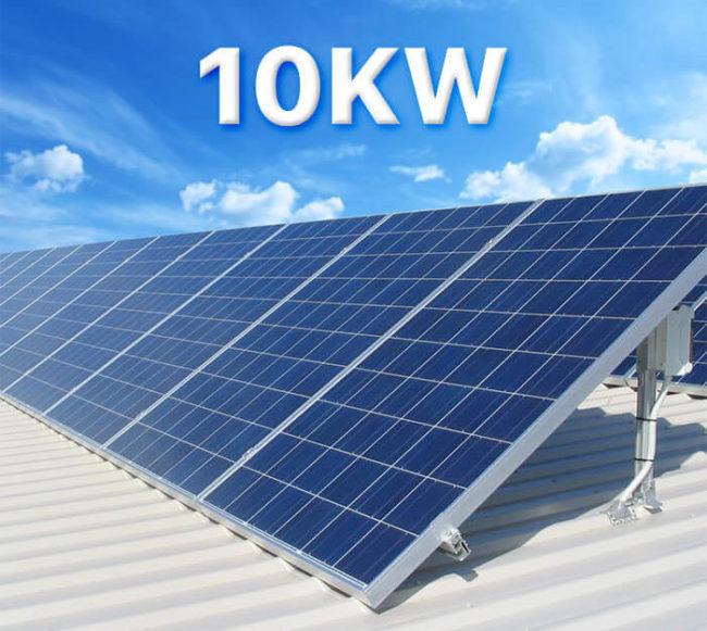 Hệ thống điện năng lượng mặt trời 10kW hòa lưới