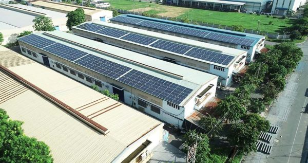 lắp đặt điện năng lượng mặt trời cho nhà xưởng